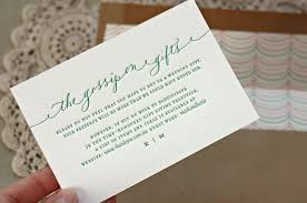 houston wedding registry wording for a registry card by bespoke press other lovely