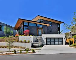 single family custom home design mid century modern kirkland