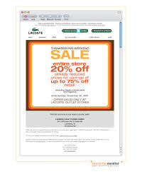 brand lacoste subject 20 thanksgiving weekend sale