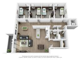 4 bedroom flat floor plan 4 bd flat the courtyards gainesville