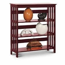 Bookshelves Cherry - amazon com legacy decor 3 tier mission style bookshelves bookcase
