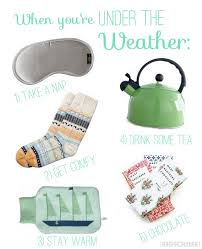 get well soon gift ideas the weather 5 ways to get well soon the inspired room