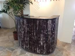 custom made reception desk top 74 bang up modern reception furniture black desk hair salon