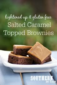 southern law recipe lightened salted caramel topped brownies