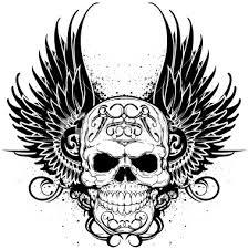 guns concept winged skulls for tattoos skull with