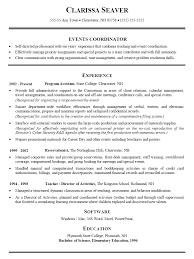 event coordinator resume event planner resume template version shalomhouse us
