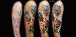 watercolor tattoo flower sleeve 1000 geometric tattoos ideas