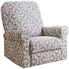 Swivel Glider Recliner Chair by Amazon Com Abbyson Living Sydney Fabric Swivel Glider Recliner