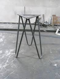 stools rclaimed wood steel hairpin leg by ironandwoodside 250 00
