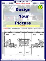 5 Bedroom Ranch House Plans Duplex Adr 5 2 1 1119 Sf Each Ranch Plan Rochester Homes