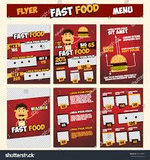 menu flyer template fast food menu flyer template set stock vector 291016601