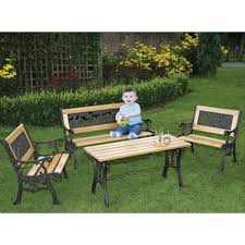 children s outdoor table and chairs childrens noah s ark furniture set the garden factory