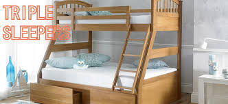 Buy Triple Bunk Beds Three Sleepers Beds On Legs - Joseph bunk bed
