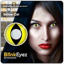 yellow cat u0027s eye halloween coloured contact lenses