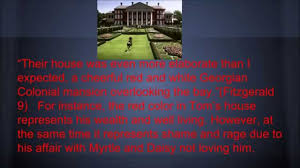 Color Symbolism by Great Gatsby Symbolism Color Project Red Youtube