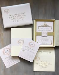 wedding invitations gold and white luxury boxed wedding invitations gold white