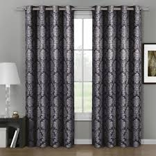 aryanna jacquard grommet top curtain panel pair set of 2