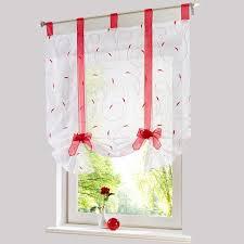 voilage cuisine store européenne broderie style fenêtre rideau cuisine rideau