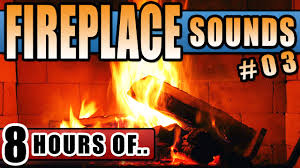 fireplace sounds effect for sleep relaxation 8 hours of crackling