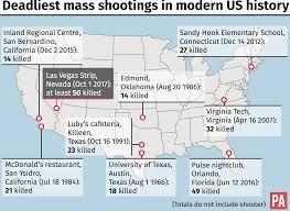 Las Vegas Strip Map Las Vegas 338 Mass Shootings This Year In Us Video