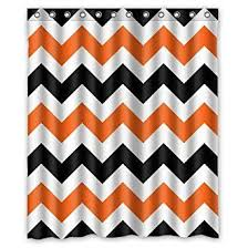 Amazon Com Unique 72 by Unique Design Orange Shower Curtain Strikingly Amazon Com
