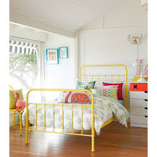 Metal Bed Frames Single by Sunday Sunshine Yellow Bed Frame Domayne Online Store Sienna U0027s