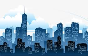 silhouette of a city building city building sketch png and psd