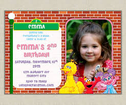 custom sesame street birthday invitations free printable