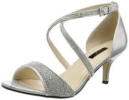wedding shoes quiz quiz women s shimmer diamante low open toe heels co uk