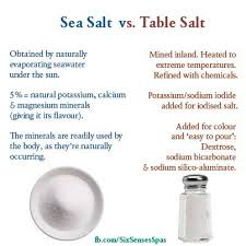 sea salt and table salt sea salt vs table salt one rich life