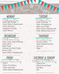Housekeeping Tips by Find Your Favorite Printable Cleaning Schedule Cleaning