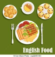 cuisine anglaise traditionnelle cuisine traditionnelle anglaise nourriture déjeuner clipart