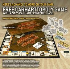 carhartt black friday carhartt black friday offer free limited edition carharttopoly