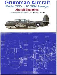 grumman tbf 1 1c tbm avenger aircraft blueprints engineering