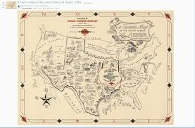 Where Was Jfk Shot Map Promotional 1965 Map Shows A Texan U0027s View Of Texas Houston Chronicle