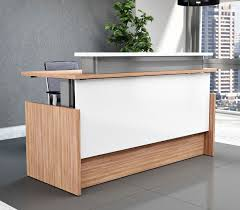 Height Adjustable Desks by Right Angle Presidente Height Adjustable Reception Desk Lobby