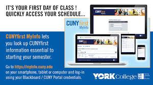 Cuny Help Desk Phone Number Cunyfirst Myinfo Is Here U2014 York College Cuny