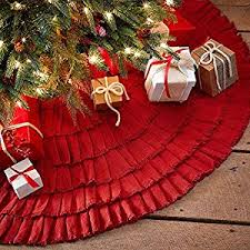 burlap tree skirt burlap ruffled christmas tree skirt 48 inches