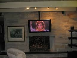 ceiling mount tv above fireplace home design ideas