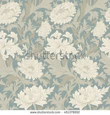 Flower Designs On Paper Modern Floral Seamless Pattern Your Design Stock Vector 457998613