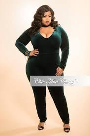 bodysuit jumpsuit plus size velour bodysuit jumpsuit in green chic and curvy