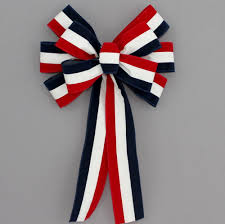 white and blue bows white blue patriotic outdoor wire edge bow 10 package