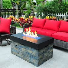 Linear Fire Pit by Cast World Tretco Linear Stacked Stone Fire Pit Table Fp C 36x42 Bk