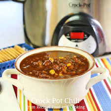 crock pot chili recipes food and cooking