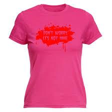 Halloween Birthday Gifts Dont Worry Its Not Mine Womens T Shirt Gunshot Blood Halloween