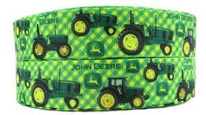 deere ribbon deere tractor 1 wide repeat ribbon sold in yard lots usa
