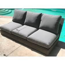 Outdoor Settee Cushions Set Of 3 Clearance Teak Patio Sofas U0026 Loveseats You U0027ll Love Wayfair
