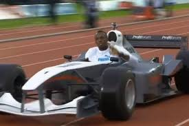 nissan gtr usain bolt usain bolt drives around a track in an f1 car video