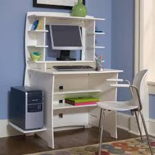 white wood computer desk office white computer desk designs for home with opened shelves