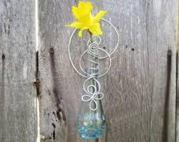 Hanging Glass Wall Vase Hanging Bud Vase Etsy